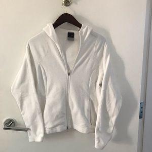 White, Nike, Thermafit zip up sweater